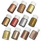 MSEKKO Kit de pigmentos 11 Colores Resina epoxi metálica...