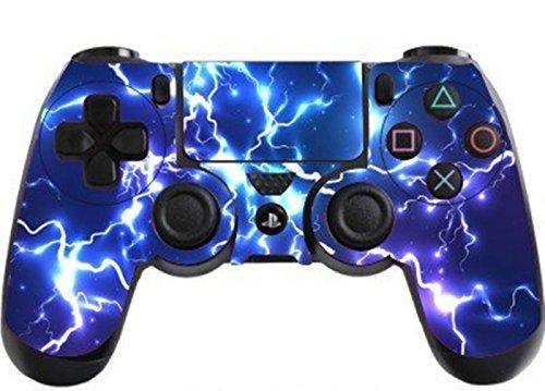 DOTBUY PS4 Design Schutzfolie Skin Sticker Aufkleber Set Styling für Sony Playstation 4 Controller X 1 (Electric Blue)
