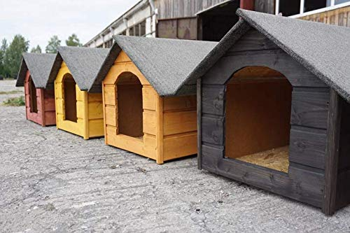 Radgermany Hundehütte XL, Holz Hundehütte Massiv Wetterfest isolierte Auswahl 7 Farben