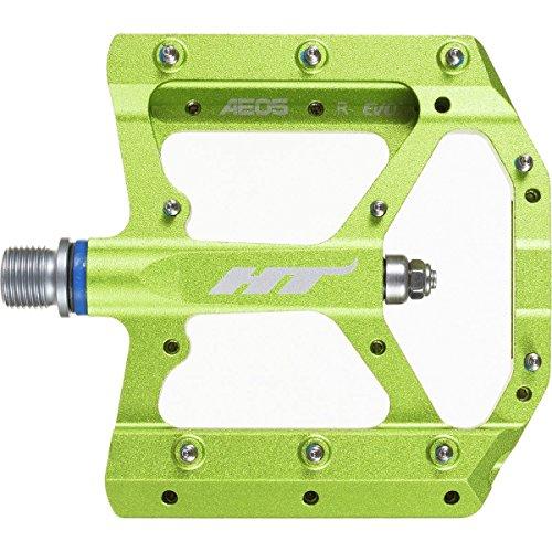 HT AE05 - Pedales Planos Unisex, Color Verde
