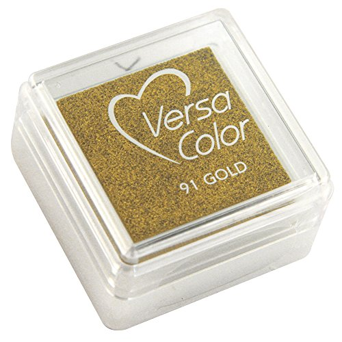 """Rayher 28395620 Stempelkissen """"Versacolor"""", Stempelfläche 2,5x2,5 cm, brillant gold"""