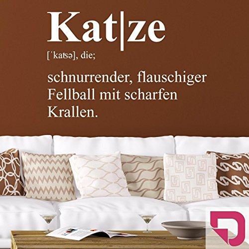 DESIGNSCAPE® Wandtattoo Katze Definition 68 x 45 cm (Breite x Höhe) pink DW807245-M-F28