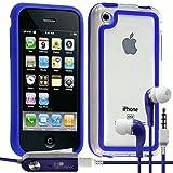 Seluxion - Funda tipo libro para iPhone 3G y 3GS, color azul
