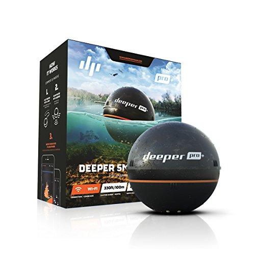 【日本正規代理店品・保証付】Deeper Pro+ ワイヤレススマートGPS魚群探知機(Wi-Fi + GPS) Wireless Fishfi...