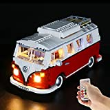 BRIKSMAX Lighting Kit with a Remote-Control for Creator Expert T1 Camper Van - Compatible with Lego 10220 Building Model- Not Include The Lego Set (Remote-Control Version)