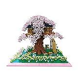 5280 PCS Arquitectura del Mundo Sakura Árbol Casa Flor Garden Lago Mini Bloques Diamond Blocks Ladrillos Edificio Juguete para niños