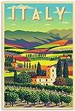 TANXM Pintura De La Lona 40x60cm Sin Marco Carteles Art Deco, póster de Italia y Cuadro artístico de Pared, póster Moderno para decoración de habitación Familiar