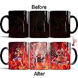Farbwechselnde Kaffeetasse, ONE PIECE wärmeempfindliche Farbwechsel Becher Tasse, 11 Unzen lustige...