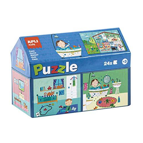 APLI Kids - Casa Puzle Casita, 24 Piezas, Multicolor, 17351