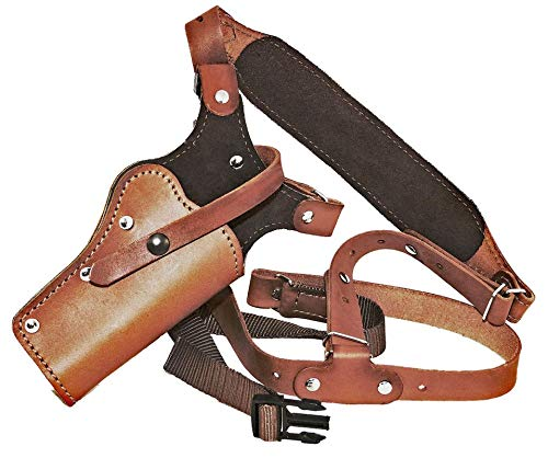 "WESTERN IMAGES LEATHERWORKS, INC. Sportsman's Chest Rig Holster for Taurus Revolvers Brown Leather (Judge .45LC 2 1/2"" Barrel 2.5 Cylinder, Right Handed)"