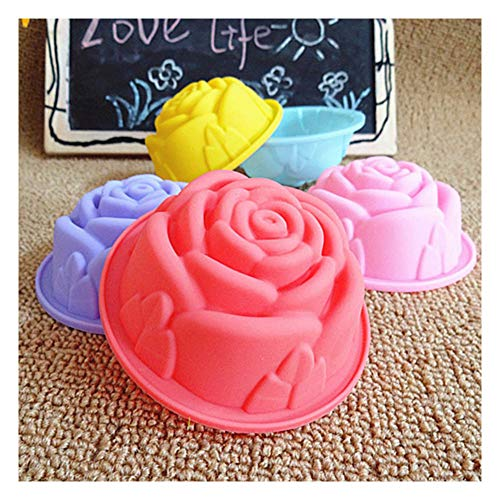 Cake Stencils Kuchen Schablonen, 5 Stücke/Satz DIY Multi-Farbe Silikon Kuchenzwischenlagen Form Muffinförmchen Rose Form Tasse Kuchen Werkzeuge Backformen Gebäckwerkzeug, Zufällige Farbe,5Set