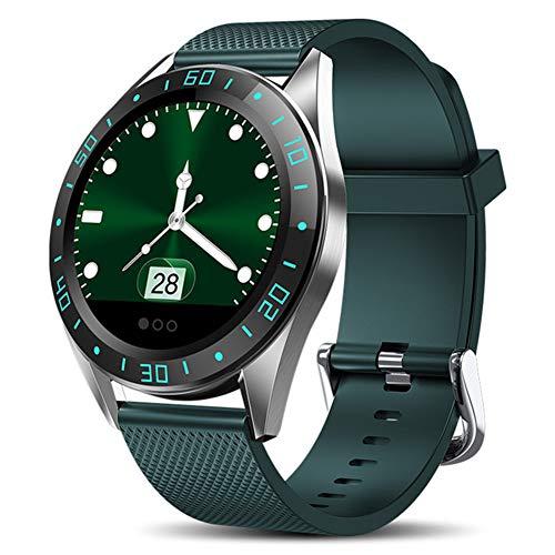 Taurusb Smart-Uhren, Smart-Uhr-Mann-LED-Bildschirm-Puls-Monitor Blutdruck Fitness Tracker Sport Armbanduhr Wasserdicht Smartwatch,A1