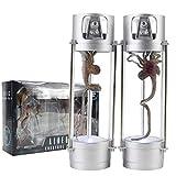 14cm Alien VS Predaor Figure Toys Creature Pack Facehugger Xenomorph Stasis Chambers Feature LED AVP Model Toys
