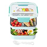 Bento Box Lunch Box For Kids & Adults Men Women Durable Stackable Easy Open & Close Design