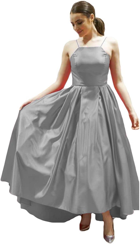 Liyuke Women's Aline Ankle Length Prom Dresses Satin Evening Formal Gowns 2019