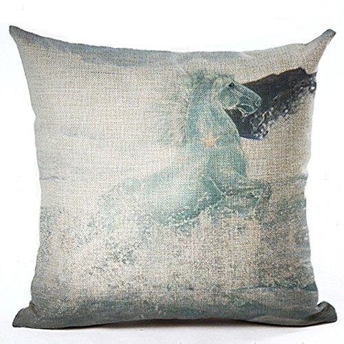 good01 Housse de coussin à motif de cheval à l'aquarelle motif tendance et décoratif, Lin, 10, 10. Horse Angel
