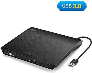 External CD Drive, Cocopa USB 3.0 Portable CD DVD +/-RW Drive Slim DVD/CD Rom Rewriter Burner Writer, High Speed Data Transfer for Macbook Pro Laptop/Desktops Win 7/8.1/10 and Linux OS