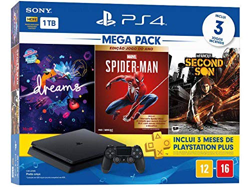 Console PlayStation 4 Mega Pack 17 - Dreams, Spider Man, Second Son