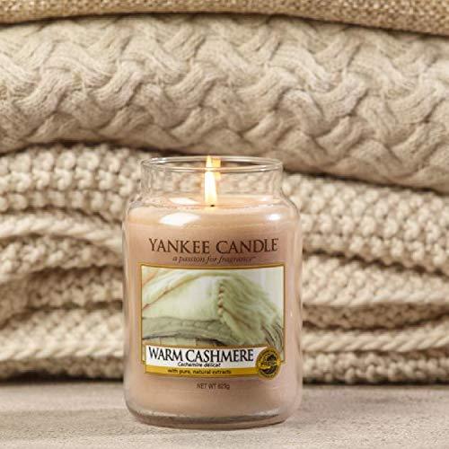 Yankee Candle Candela profumata in giara grande, Caldo cashmere