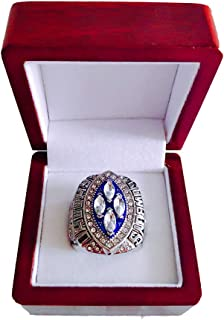 Gloral HIF Dallas Cowboys Championship Ring Super Bowl XXVIII 1993 Ring sz 11 Michael Irvin Replica Rings with Display Wooden Box