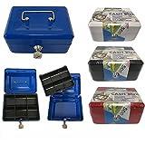 Geldkassette Geldbox Farbe ROT inkl. 2 Schlüssel 147 x 115