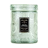 Voluspa Japonica White Cypress Candle   Small Glass Jar with Matching Glass Lid   5.5 Oz   All Natural Wicks and Coconut Wax for Clean Burning