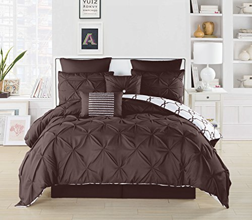 Duck River Textile full, size, black, blue, cal, king queen, twin c, double, dinosaur, daybed, dorm bed,comforter set dark, Chocolate, 104x90