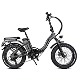 Rattan 48V 500W/750W Electric Bike for Adults Folding Bikes 3.0/4.0 Fat Tire Bikes 13AH Removable Lithium-ion Battery E-Bikes 7 Speed Shifter Electric Bicycle