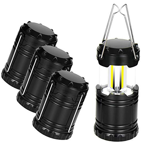 4 Pack LED Camping Lantern, Portable LED Camping Lights, Perfect Lantern Flashlight for Hurricane, Emergency, Survival Kits, Hiking, Power Outages, Outdoor Portable Lanterns, Collapsible