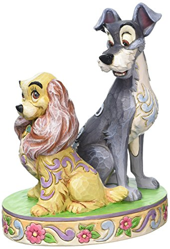 Disney Traditions 4046040 Lady and The Tramp 60th Anniversary, Wood, White