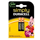Pilas Duracell Simply AAA 2 Unidades