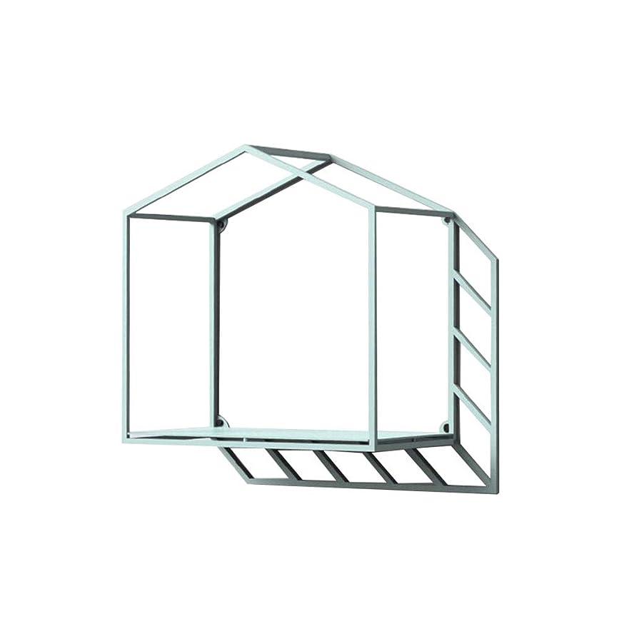 創造性の壁の壁の壁実用的な単純な人格鉄のアート幾何学影の家シェルフの青 (サイズ さいず : 36 * 17 * 36cm)