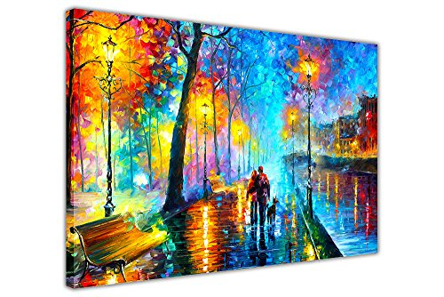 """""""Melody Of The Night"""", Gemälde von Leonid Afremov, Druck auf Leinwand, abstraktes Bild, Wand-Deko, Poster mit Motiv aus moderner Kunst, canvas, 06- A0 - 40"""