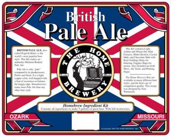 British Pale Ale Home Beer Brewing Ingredient Kit