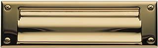 Baldwin 0015.003 Open Magazine Size Letter Box Plate, Lifetime Polished Brass