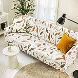 Funda Sofas 2 y 3 Plazas Hoja Fundas para Sofa con Diseño Universal,Cubre Sofa Ajustables,Fundas Sofa Elasticas,Funda de Sofa Chaise Longue,Protector Cubierta para Sofá