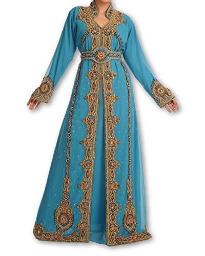 New Top Selling Bridal Wear Maghribi Kaftan Dress for Arabian Ladies 119 (M)
