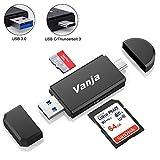 Vanja USB 3.0 Lecteur de Carte, USB Type C/Thunderbolt 3 Lecteur de Carte SD/MicroSD OTG Adaptateur pour Macbook Pro, MacBook, iMac, Samsung S10/S9/S8, Huawei P30/P20/P10/Mate 20/10