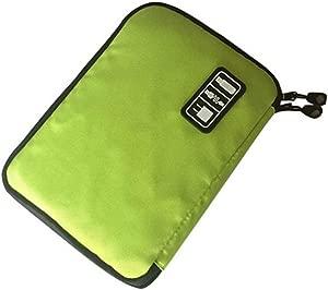Emorias 1Pcs Multifunction Waterproof Digital Accessories USB Travel Storage Bag  Green