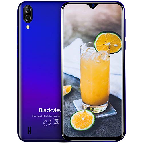 Blackview A60 Smartphone ohne Vertrag Günstig 6.1 HD+ Display, 13MP+5MP Dual Kamera, 16GB ROM, 4080mAh Akku, Dual SIM - UK Version
