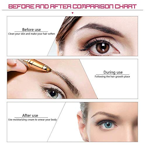 EPOH® Eyebrow trimmer for women   Eye browser Trimmer   Trimmer for Face, Lips, Nose Hair Removal. Electric Pencil Shape epilator with Light, Easy to carry Machine For Women
