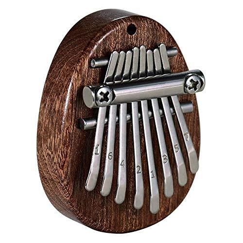 ZoneYan Mini Kalimba Thumb Piano, Mini Piano de Pulgar, Kalimba 8 Teclas, Kalimba Profesional, Kalimba Instrumento, Kalimba Transparente Marimba Colgante Musical Cordón (Óvalo de Madera)