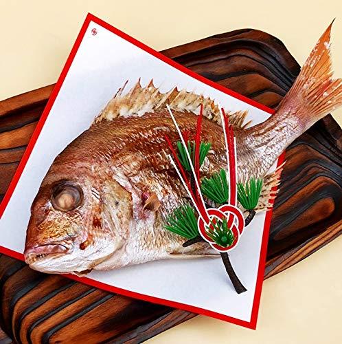 祝い 鯛 お食い初め 節句 山形県産 天然 真鯛 1尾400g前後 冷蔵 祝い飾りつき