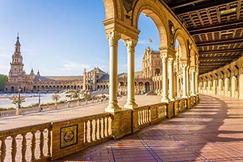 Rompecabezas para adultos, Sevilla, Rompecabezas para adultos Juegos intelectuales Aprendizaje Educación Juguetes-1500 piezas (87x57cm)