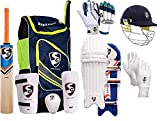 SG Sports Team Cricket Kit Combo Kit for Men's Senior Cricket Kit with Kashmir Willow RSD Spark Cricket Bat Complete Batting & Keeping Accessories