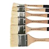 VHGYU Pintura del Artista del Sistema de Cepillo Pinceles Set de 6 Aceite for Adecuada acrílico Acuarela y aguada Pintura Color de la Foto para los Artistas y Estudiantes