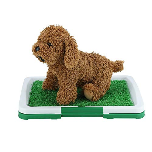 SOULONG Inodoro de Bandeja para Perros Orinal Sanitaria de Adiestramiento Inodoro para Mascotas con Cesped Artificial