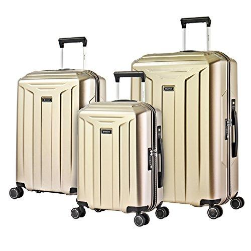 Eminent Guard Set 3 Maletas Ultra Ligeras | 3 Piezas de Equipaje de Viaje (1 de Cabina + 2 para Bodega M y L) 4 Ruedas y 360° | Policarbonato Rígido, Cadena TSA & Manija Telescópica