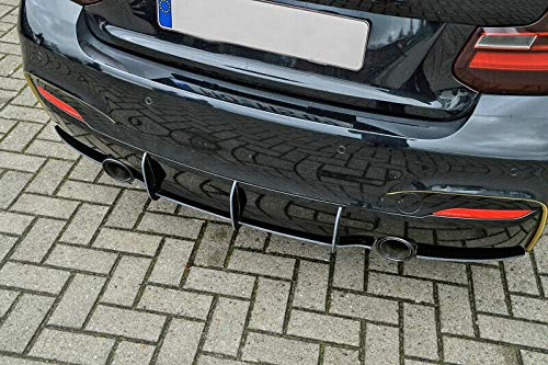 Performance Rear Bumper diffuser addon with ribs/fins For 2 Series F22 / F23, M235i 2013-2016