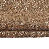 CHZIMADE 45 * 135cm Soft Cork Leaher Fabric Faux DIY Sheet Canvas Back Great for Hair Bows Making Craft